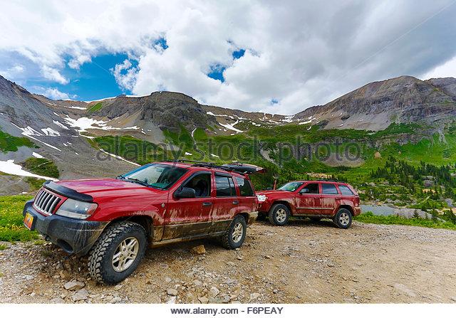 Jeeps in Colorado - Stock Image