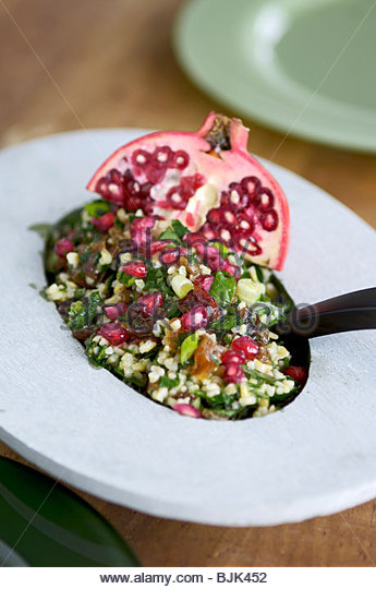 Tabbouleh with fruit (Lebanon) - Stock Image