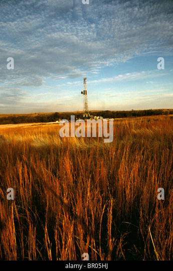 Landscape picture of an electrical plant in Texas. - Stock Image