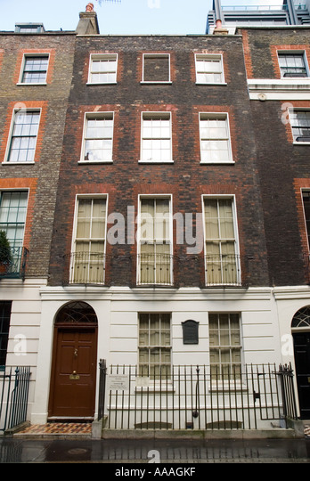 Benjamin Franklin house in Craven Street London England - Stock Image
