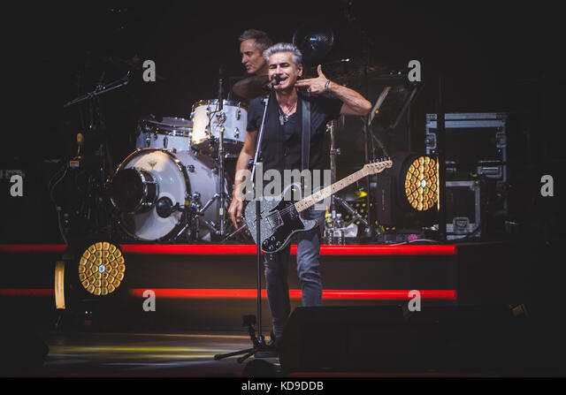 Turin, Italy. 10th Oct, 2017. The Italian singer and song writer Luciano Ligabue performing live on stage at the - Stock Image