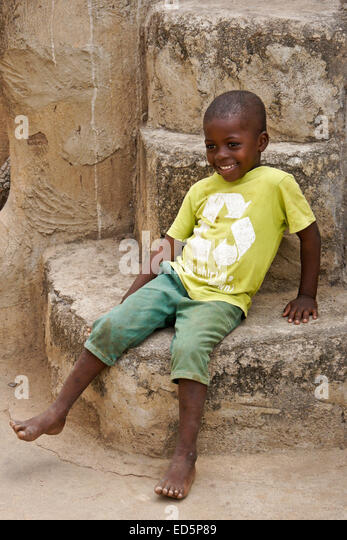Young boy of Talensi tribe, Tongo, Ghana - Stock Image