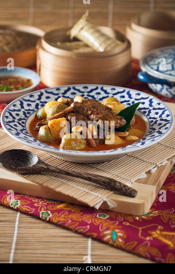 Thai Masaman beef curry - Stock Image