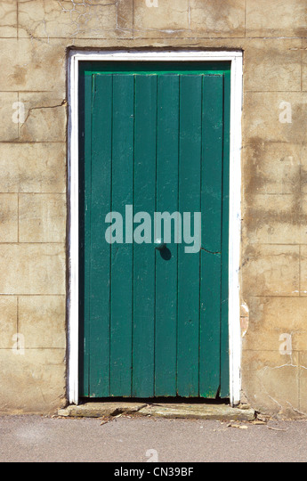 Old green door - Stock-Bilder