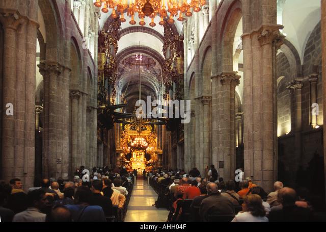 Interior santiago de compostela cathedral stock photos - Interior santiago de compostela ...