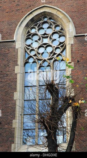 Glass Church Window Medieval Stock Photos Amp Glass Church