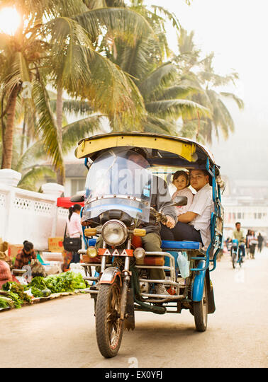 The morning market. Luang Prabang, Laos. - Stock Image
