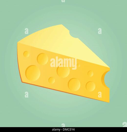 Slab Of Cheese - Stock Image