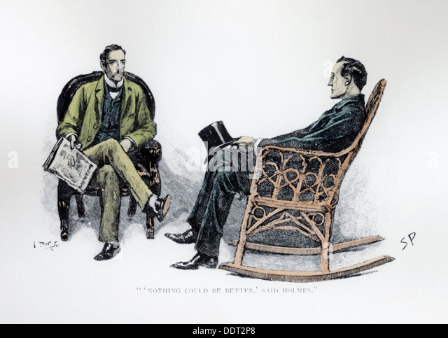 ''Nothing could be Better'' said Holmes', 1893. Artist: Sidney E Paget - Stock Image