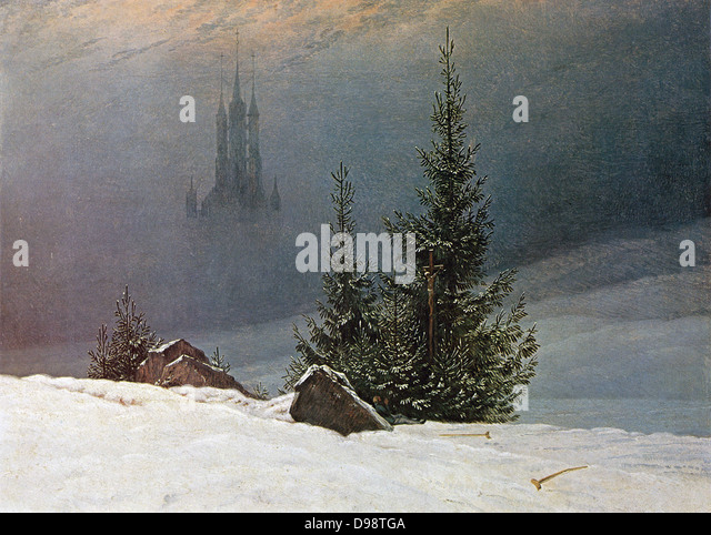 mitkirche by Caspar David Friedrich - Stock Image