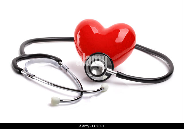 Stethoscope and heart - Stock Image
