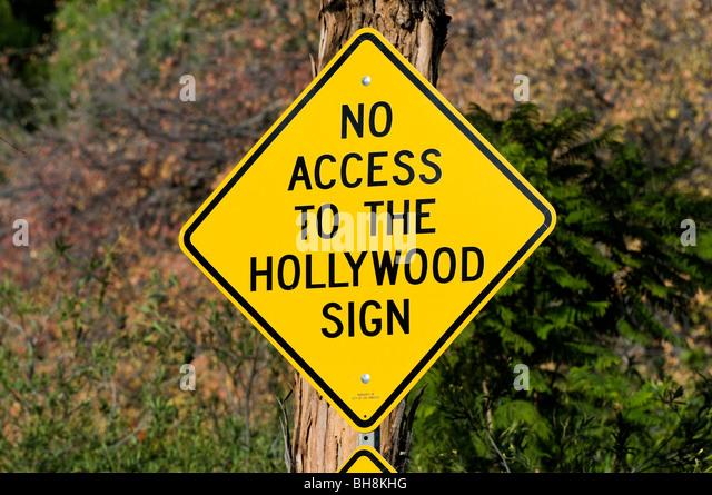 Hollywood street sign, Los Angeles, California, USA - Stock Image