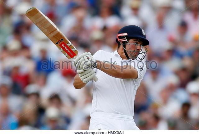 Britain Cricket - England v Pakistan - Third Test - Edgbaston - 5/8/16 England's Alastair Cook in action Action - Stock-Bilder