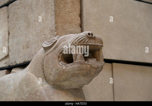 Mausoleum of Pozo Moro. Iberian civilization. 6th century BC. Chinchilla de Monte-Aragon. Spain. Detail corner. - Stock Image