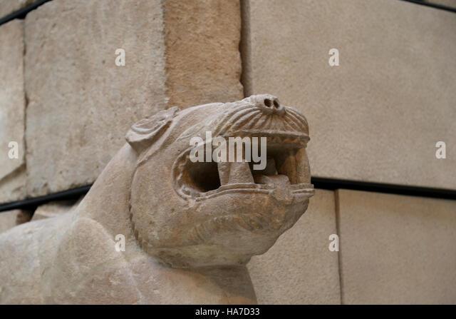 Mausoleum of Pozo Moro. Iberian civilization. 6th century BC. Chinchilla de Monte-Aragon. Spain. Detail corner. - Stock Image