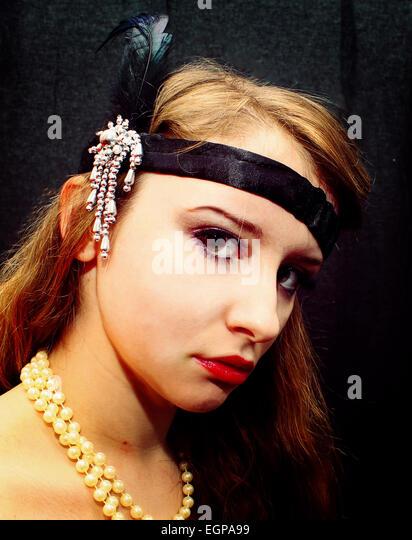 Flapper girl - Stock Image