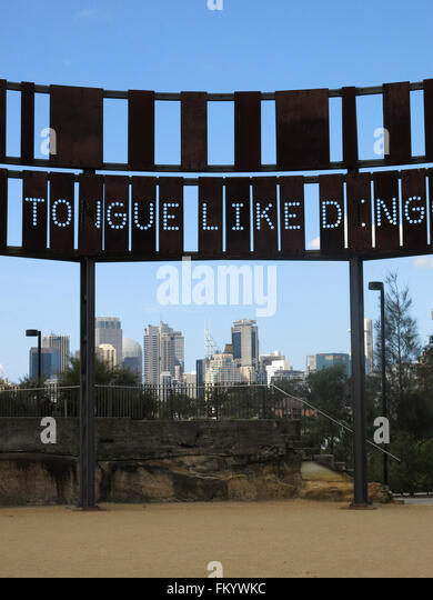 A view of Sydney from the former BP site at Waverton, Sydney, Colour - Stock Image