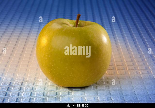 A fresh green apple - Stock Image