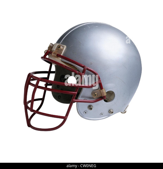 American football helmet - Stock Image
