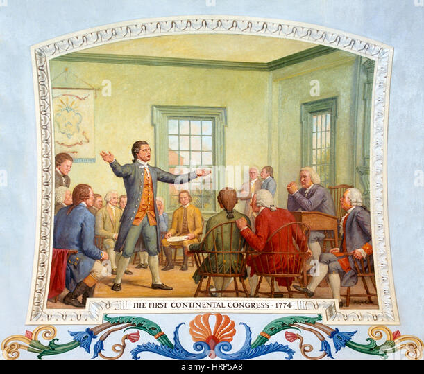 Patrick Henry, First Continental Congress, 1774 - Stock Image