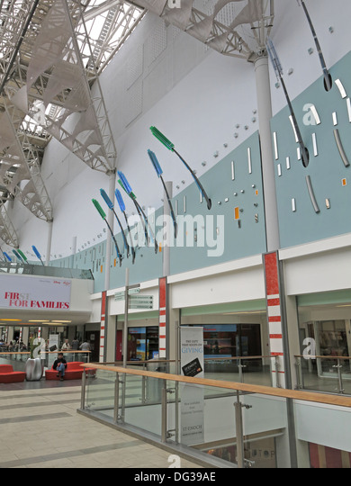 Inside St Enoch Shopping retail shopping centre Glasgow - Stock Image