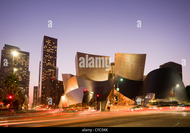 USA, United States, America, California, Los Angeles, City, Walt Disney, Concert Hall, Architect, Gehry, architecture, - Stock Image