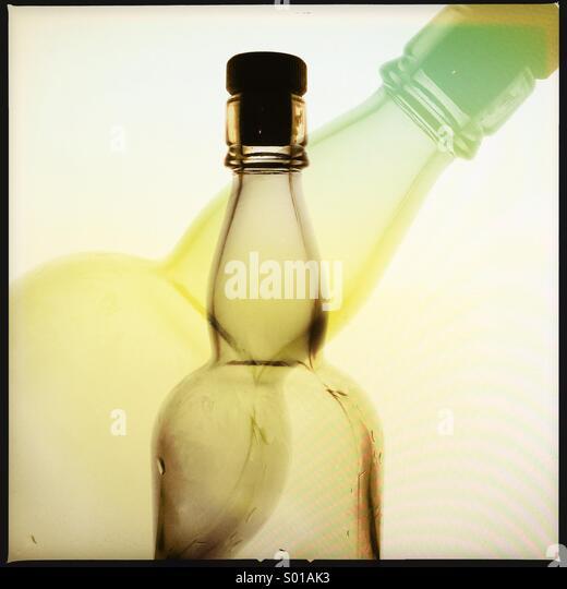 Bottle silhoutte - Stock-Bilder