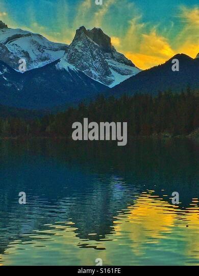 Gap Lake and the Windtower, Alberta,Canada - Stock-Bilder