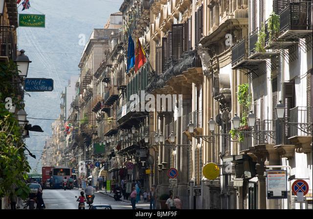 Italien, Sizilien, Palermo, Corso Vittorio Emanuele | Italy, Sicily, Palermo, Corso Vittorio Emanuele - Stock Image