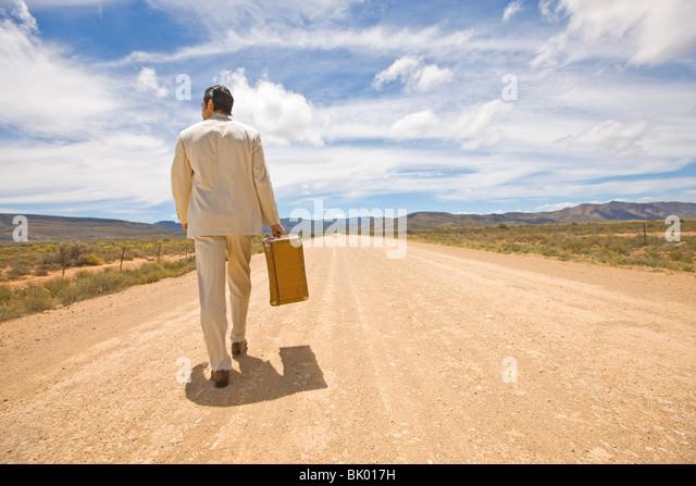 Long walk - Stock Image