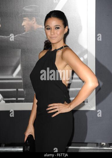 Los Angeles, CA, USA. 19th Nov, 2015. Emmanuelle Chriqui at arrivals for CREED Premiere, The Regency Village Theatre, - Stock Image