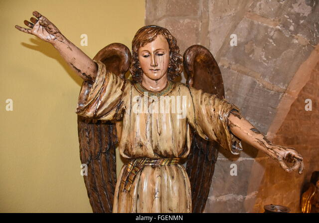 Angel on the stairs of the parador of Santo Domingo de la Calzada - Stock Image