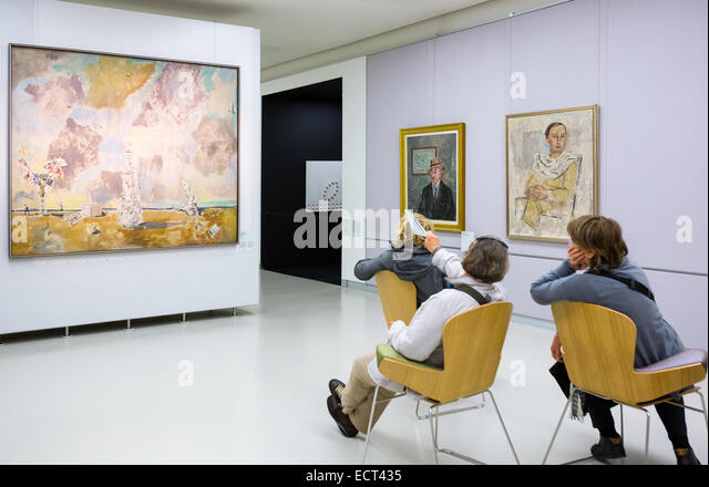 Italy, Milan, people in the Museum of the twentieth century - Stock Image