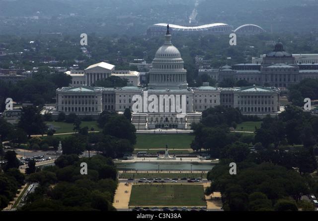 United States. Washington D.C. National Mall. At background, United States Capitol. - Stock Image