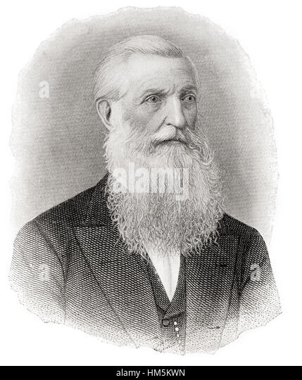 George Bancroft, 1800 – 1891.  American historian and statesman. - Stock Image