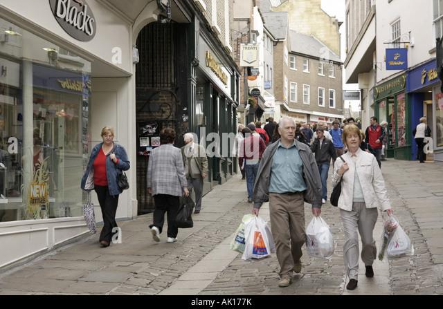UK, England, Durham, Saddler Street, shopping, - Stock Image
