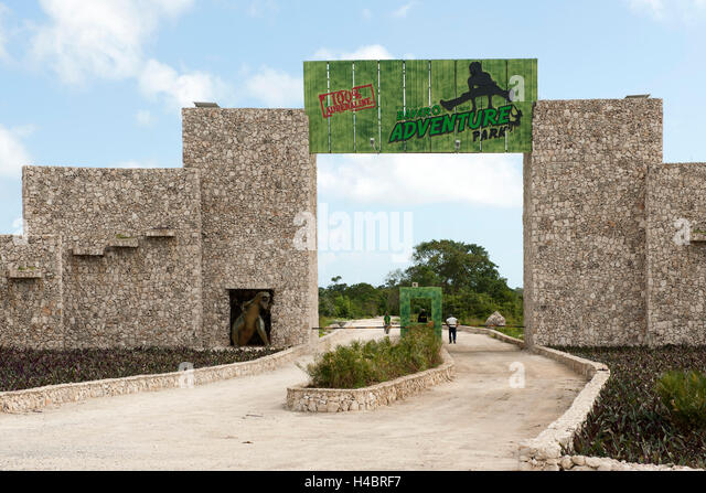 The Dominican Republic, the east, Punta Cana, Adventure park - Stock Image