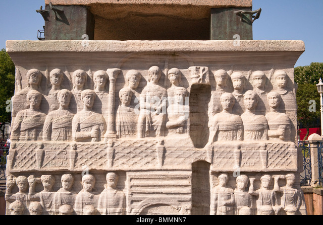 Egyptian carved relief stock photos