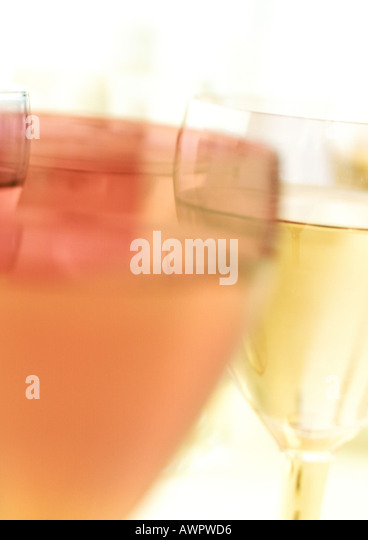 Cocktails, blurred, close-up - Stock Image
