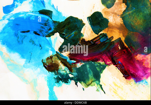 Hand-painted background. SELF MADE. - Stock Image