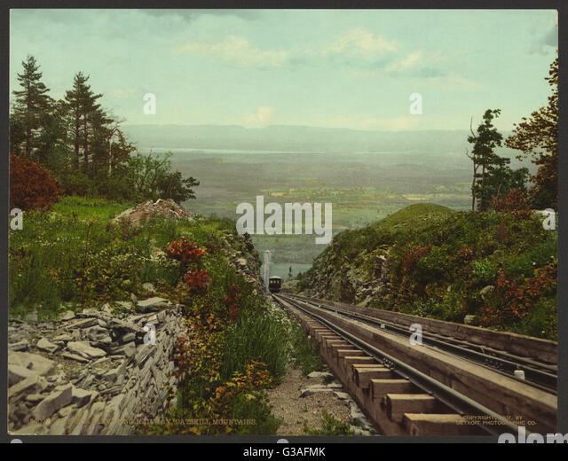 The Otis Elevating Railway, Catskill Mountains. Date c1902. - Stock Image