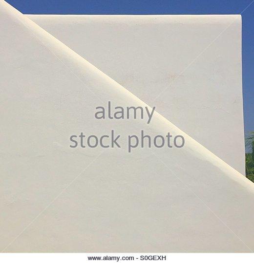 Minimalist Mediterranean architecture - Stock Image