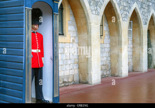 Windsor Castle, Windsor, Berkshire, England, UK - Stock Image
