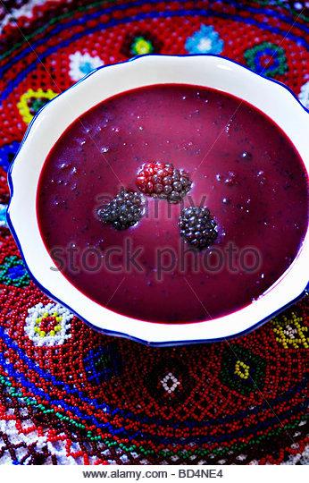 Blackberry soup - Stock-Bilder