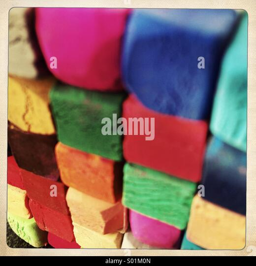 color pastels - Stock-Bilder
