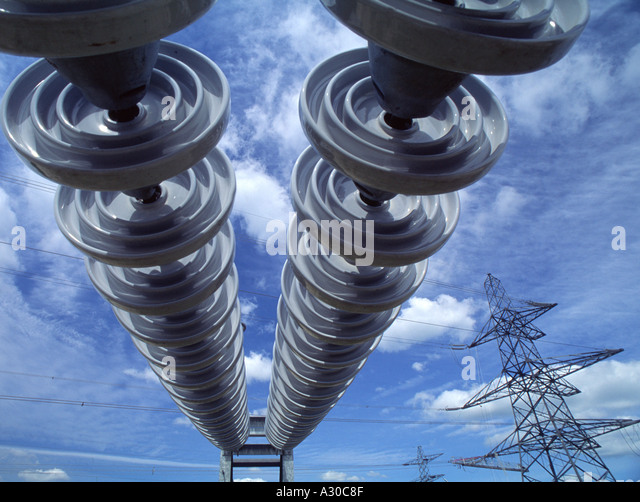 Insulators stock photos insulators stock images alamy for Glass power line insulators