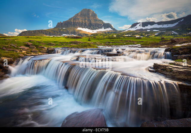 Logan Pass in Glacier National Park, located in the U.S. state of Montana. - Stock Image