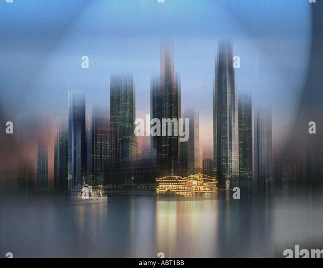 SG - SINGAPORE: The Skyline of Singapore - Stock Image