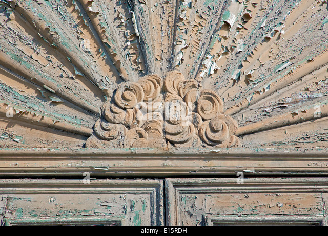 background from Venice - coat on the old gate - Stock Image