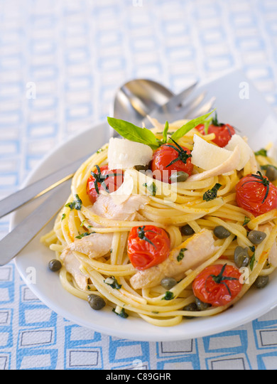 Tuna Linguinis - Stock Image